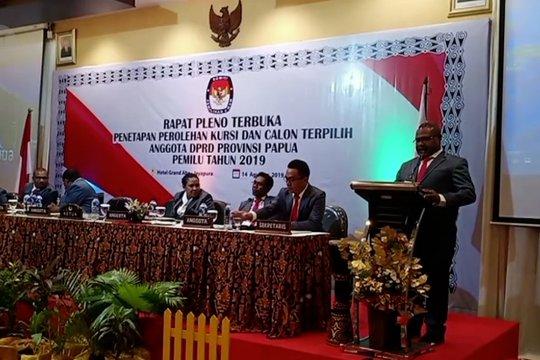KPU tetapkan 55 calon terpilih anggota DPRD Provinsi Papua
