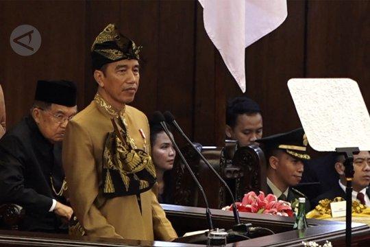 Pakaian adat Suku Sasak permanis penampilan Jokowi