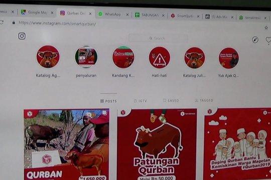 Ratusan hewan kurban terjual via daring