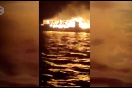 Kapal tujuan Sulteng terbakar di Pulau Bokori, 7 orang tewas