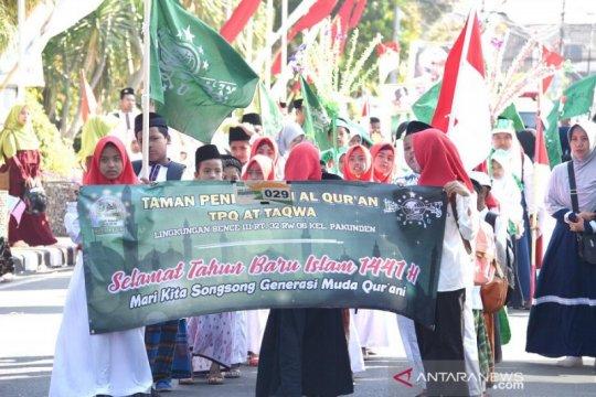 Peringatan Tahun Baru Islam diikuti ribuan santri-santriwati Kediri