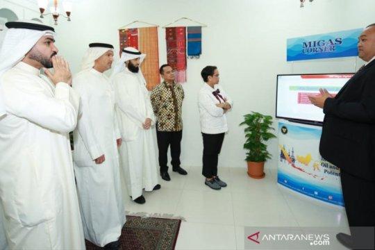 """Tarik investasi dari Kuwait, Menlu Retno resmikan """"Migas Corner"""""""