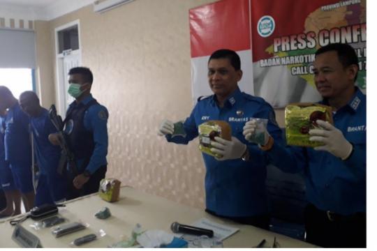 BNNP Lampung gagalkan peredaran 3 kg sabu dan 1.200 butir pil ekstasi