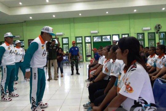 Atlet PON 2020 asal Papua digembleng di Rindam XVII/Cenderawasih