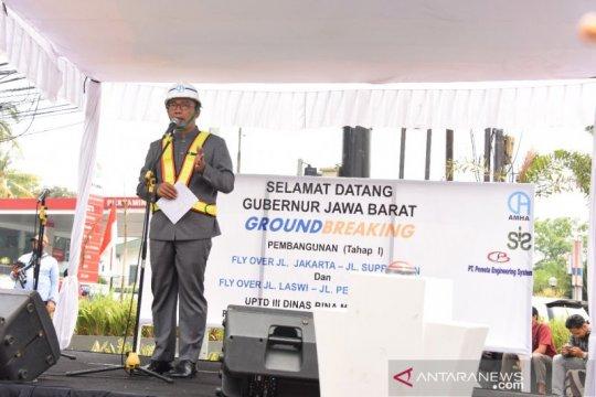 Ridwan Kamil teken prasasti dimulainya pembangunan tiga jalan layang