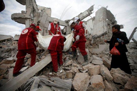 Yaman terus cari jenazah korban serangan koalisi