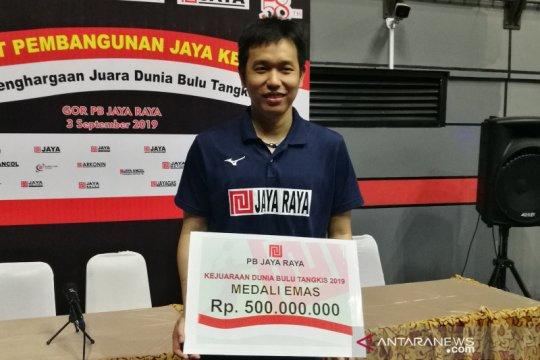 Hendra Setiawan cs diguyur bonus PB Jaya Raya usai Kejuaraan Dunia
