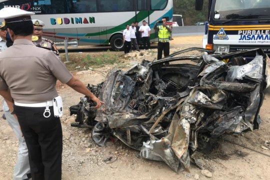 Polisi jelaskan kronologi kecelakaan beruntun Tol Purbaleunyi