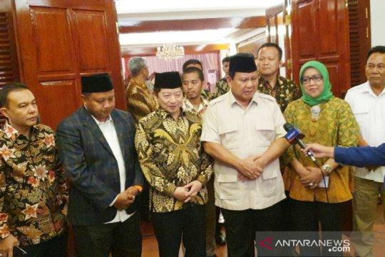 Disambangi Pimpinan PPP, Prabowo: Kita ingin sinergi di Jawa Barat