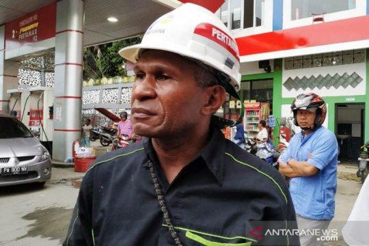 Papua Terkini - Pembelian BBM di SPBU Nagoya kembali normal