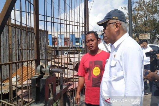 Papua Terkini - Menteri PUPR data bangunan terbakar di Jayapura