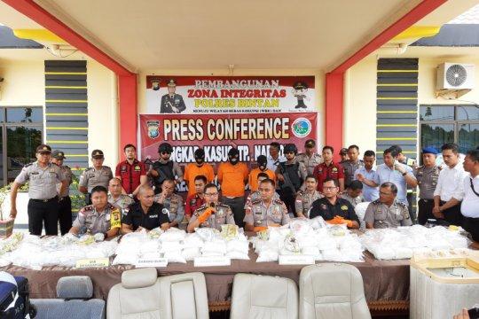 Polres Bintan ungkap penyelundupan 118 kilogram sabu