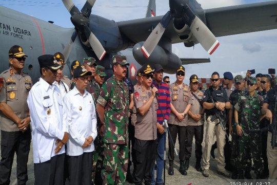 Kapolri: kehadiran pasukan sebagai tanda hadirnya negara