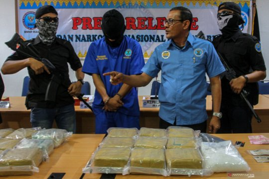 BNNP Riau gagalkan pengiriman sabu 30 kg asal Malaysia