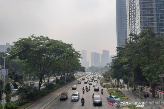 AirVisual: Kualitas udara Jakarta tidak sehat Kamis pagi