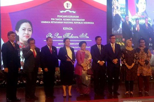Puan Maharani terima anugerah pin tanda alumni kehormatan Lemhannas