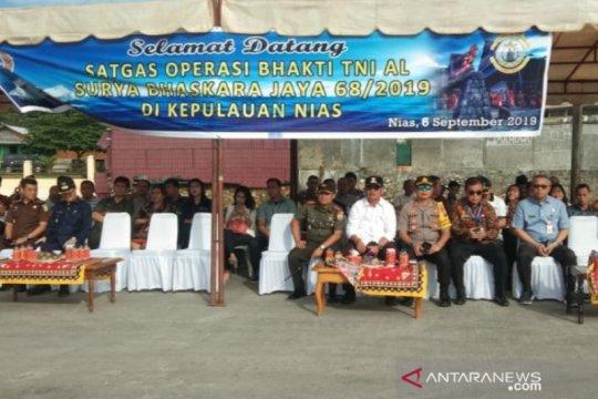 Dukung Sail Nias, Satgas Operasi Bhakti TNI AL tiba di Gunungsitoli