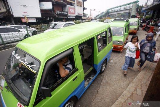 Bogor simulasi rute angkot di sekitar Pasar Anyar