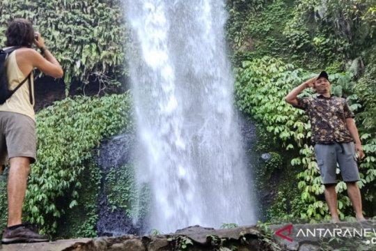 Air terjun Sendang Gile Lombok Utara mulai ramai dikunjungi wisatawan