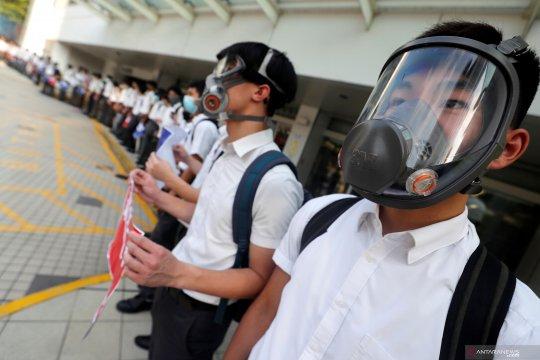 Aksi pelajar Hong Kong pascabentrok polisi dengan pengunjuk rasa