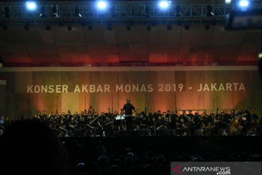 Kemarin, konser musik di Monas hingga sosialisasi perluasan Gage