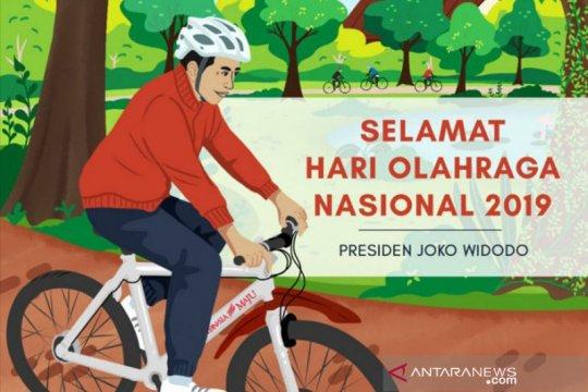 Presiden Jokowi sampaikan ucapan Selamat Haornas 2019