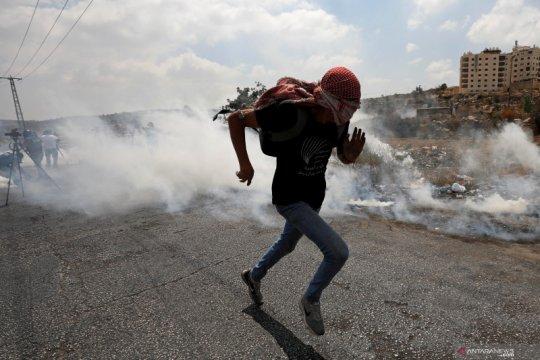 Mahasiswi Palestina dihantam tabung gas air mata pasukan Israel