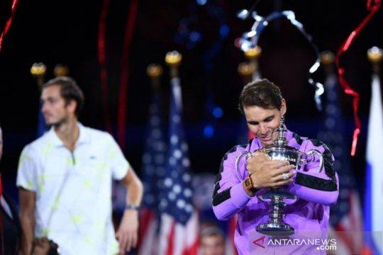 Nadal termotivasi oleh kecintaan pada tenis, bukan rekor Grand Slam