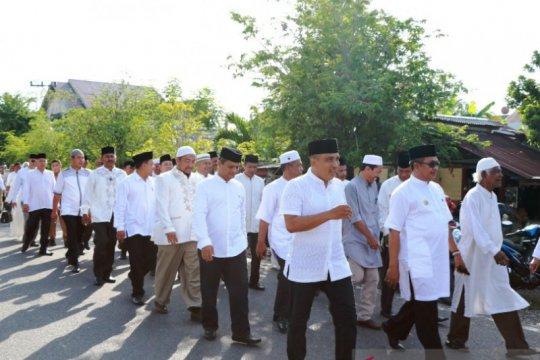 Sambut Tahun Baru Islam, pejabat-ulama pelajar Aceh Barat jalan kaki