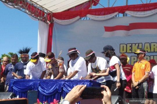 Warga Manokwari tanda tangan Deklarasi Damai
