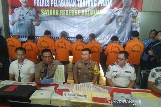 Polres Pelabuhan Tanjung Priok bongkar jaringan penjual materai palsu