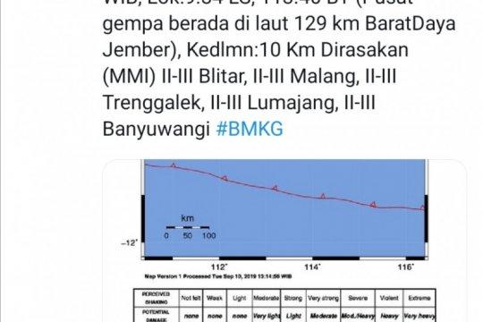 Gempa berkekuatan 4,8 SR guncang Jember