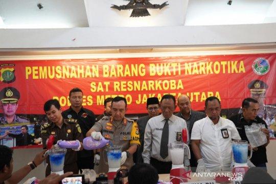 Polres Metro Jakarta Utara musnahkan 11 kilogram sabu-sabu