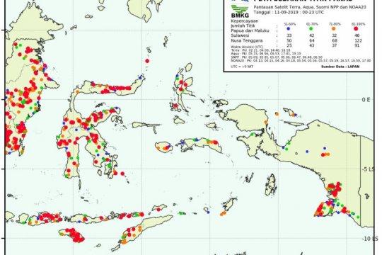 32 titik api termonitor di selatan Papua