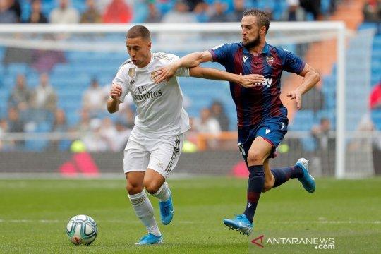 Madrid menang 3-2 atas Levante di laga debut Hazard