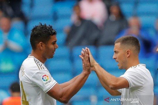 Zidane beberkan alasan Hazard hanya turun sebagai pengganti
