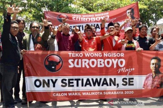Aktivis PA GMNI kembalikan formulir bacawawali Surabaya lewat PDIP
