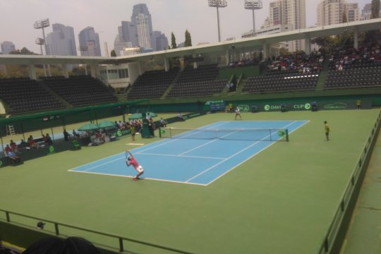 Rifqy telan kekalahan pada debutnya di Piala Davis