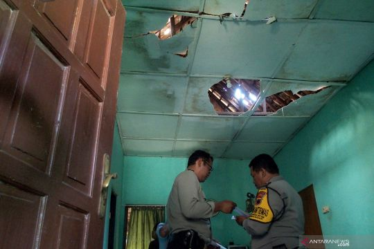 Dampak ledakan di Mako Brimob Semarang