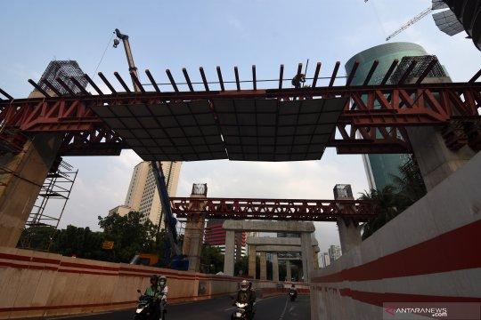 Progres pembangunan LRT Jabodetabek