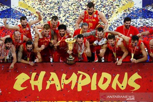 Daftar juara Piala Dunia FIBA, Spanyol samai rekor Brasil dan Serbia