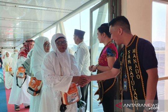 Jamaah haji Sulut tiba di Bandara Sam Ratulangi