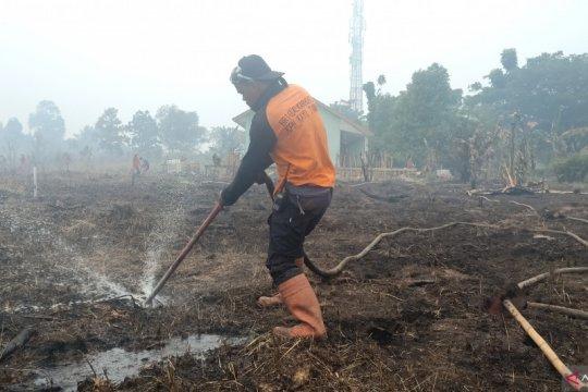 Suntikan gambut redam kebakaran lahan di Tegal Arum Banjarbaru