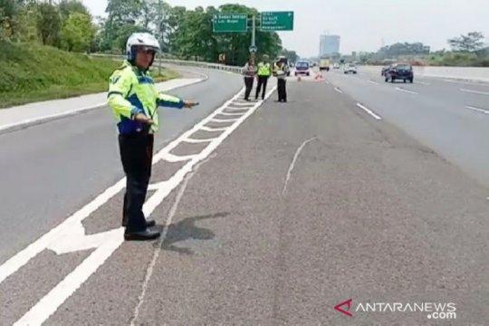 Polres Bogor: Mobil APV sempat terguling 50 meter setelah pecah ban