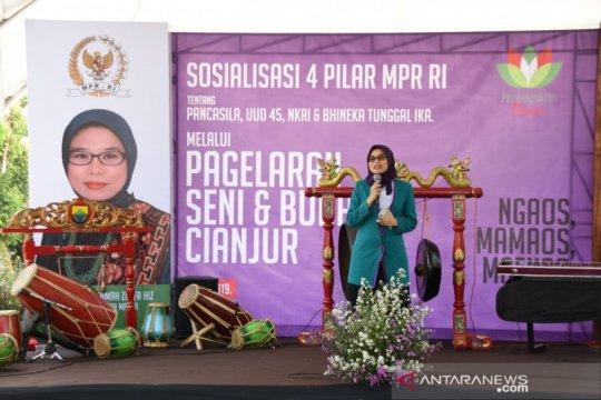 Pagelaran seni budaya Empat Pilar MPR semarak di Cianjur