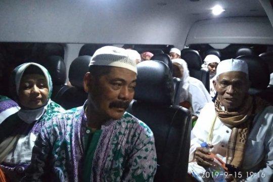 Jamaah haji Bulungan pulang via darat karena asap ganggu penerbangan