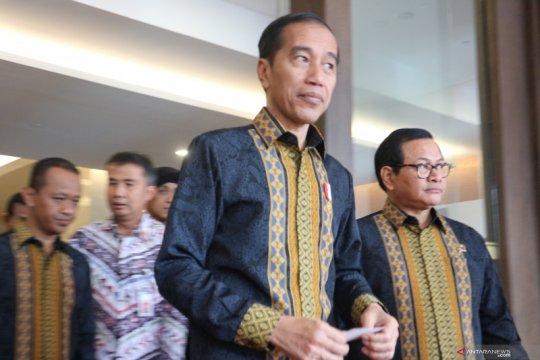 Presiden Jokowi tegaskan tidak ada pengembalian mandat dalam UU KPK