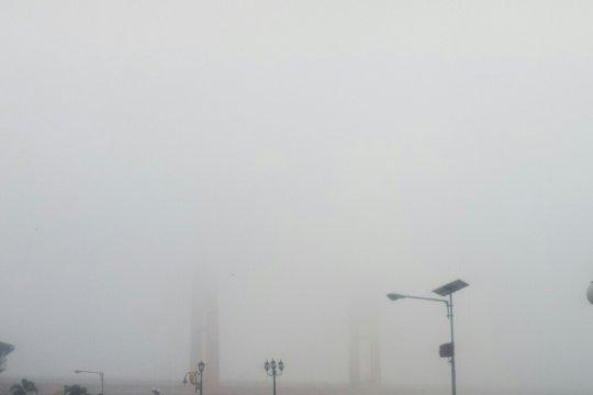 Kabut asap, BMKG: malam hari udara Palembang sangat tidak sehat