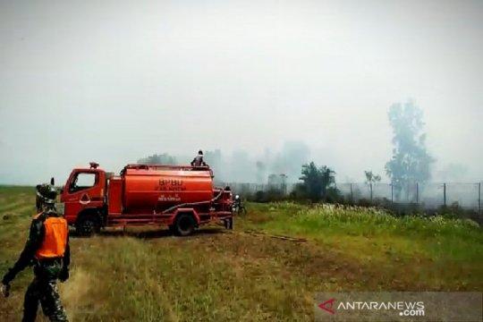 Bandara Haji Asan Sampit masih tertutup asap