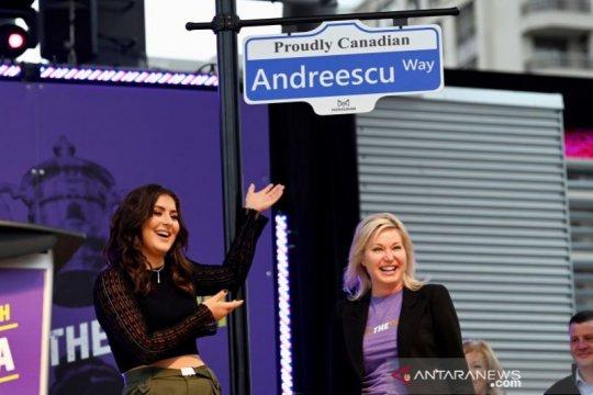 Andreescu dijadikan nama jalan di Mississauga Kanada
